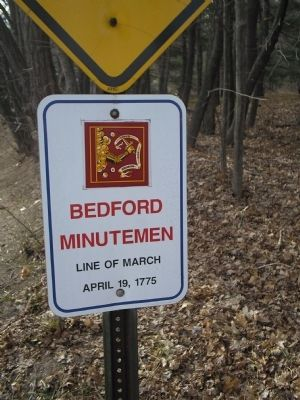 Bedford Minutemen Marker image. Click for full size.