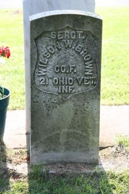 Lieut. Wilson W. Brown Gravestone Photo, Click for full size