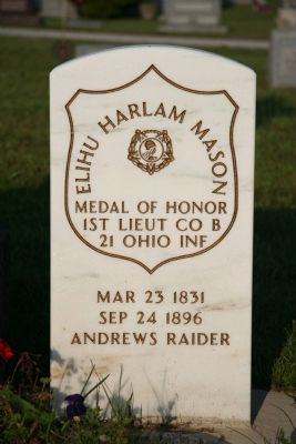 Gravestone of Captain Elihu H. Mason Photo, Click for full size