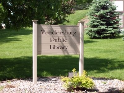 Sign - - Veedersburg Library image. Click for full size.