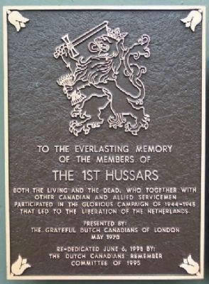The 1st Hussars Marker image. Click for more information.