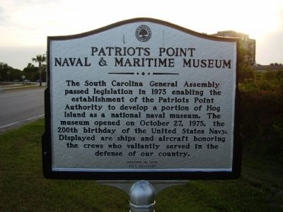 Patriots Point Naval & Maritime Museum Marker Photo, Click for full size
