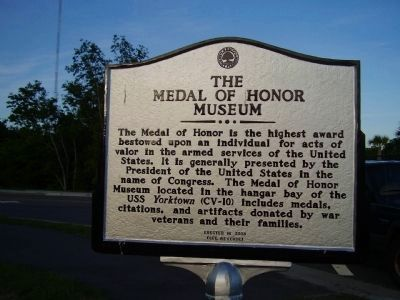 The Medal of Honor Museum Marker image. Click for full size.