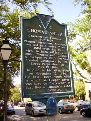 Thomas Smith Marker image. Click for full size.