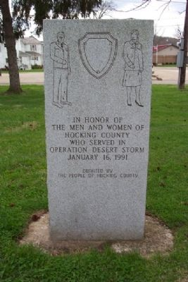 Hocking County Desert Storm Memorial image. Click for full size.