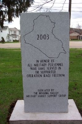 Hocking County Iraqi Freedom Memorial Photo, Click for full size