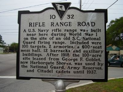 Rifle Range Road Marker image. Click for full size.
