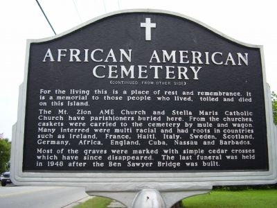 African American Cemetery Marker Photo, Click for full size