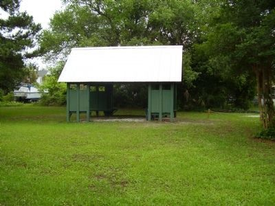 Shelter near the African American Cemetery Marker Photo, Click for full size