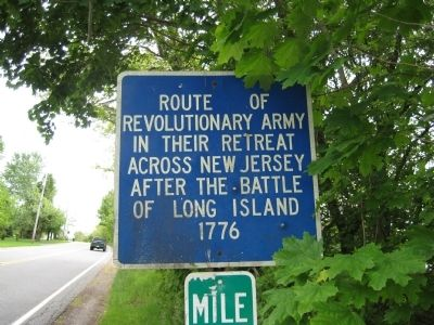 Revolutionary Army Route Marker image. Click for full size.