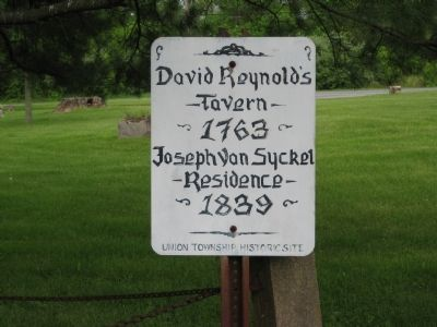 David Reynolds Tavern Marker Photo, Click for full size