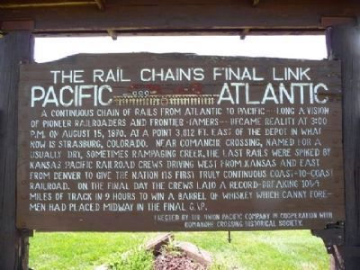 The Rail Chains Final Link Marker Photo, Click for full size