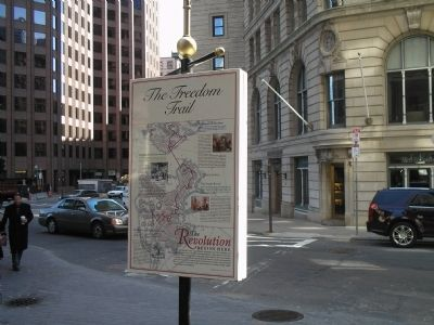 Marker along the Freedom Trail image. Click for full size.