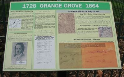 Orange Grove 1728 - 1864 Marker Photo, Click for full size