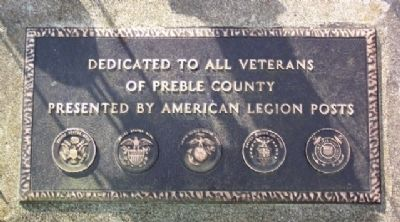 Preble County Veterans Memorial Marker image. Click for full size.