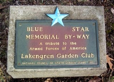 Blue Star Memorial By-Way Marker image. Click for full size.