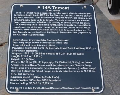 F-14 Tomcat Marker Photo, Click for full size