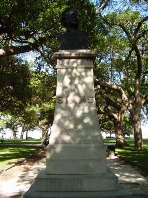 William Gilmore Simms Monument image. Click for full size.