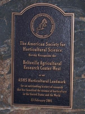 Beltsville Agricultural Research Center - West Marker image. Click for full size.