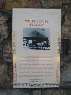 White House Station Marker image. Click for full size.