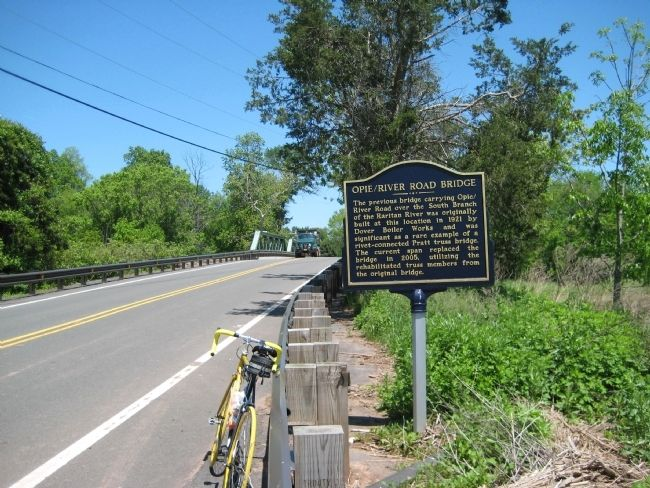 Opie River Road Bridge Marker on south side of bridge image. Click for full size.
