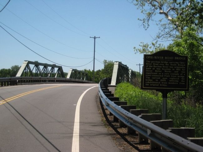 Opie River Road Bridge Marker on north side of bridge image. Click for full size.