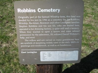 Robbins Cemetery Marker image. Click for full size.