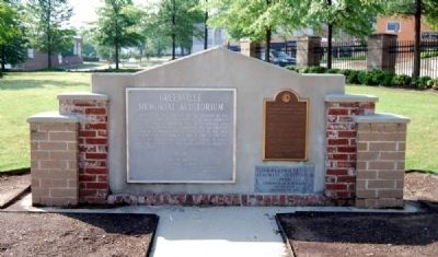 Greenville Memorial Auditorium Marker Photo, Click for full size