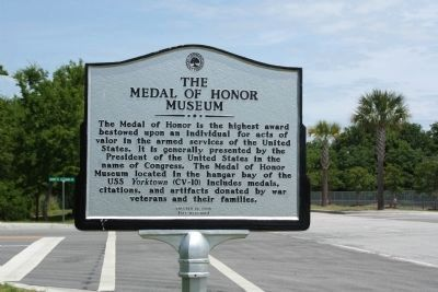 Patriots Point Naval & Maritime Museum/The Medal of Honor Museum Marker image. Click for full size.