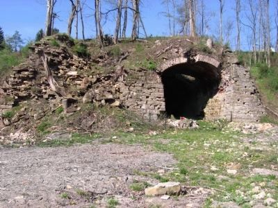 Mt Savage Iron Furnace Ruins image. Click for full size.