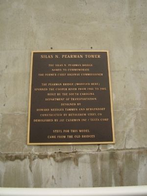 Silas N. Pearman Tower Marker image. Click for full size.