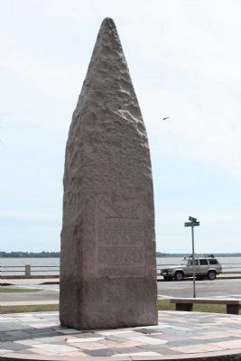 USS Hobson Tribute Marker, with stones from the thirty eight home states Photo, Click for full size