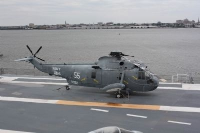 SH-3G Sea King and Marker Photo, Click for full size