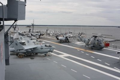 SH-3G Sea King, on deck at right Photo, Click for full size