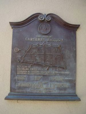 The Site of Carteret Bastion Marker image. Click for full size.
