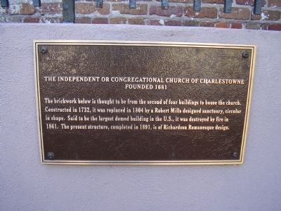 The Independent or Congregational Church of Charlestown Marker image. Click for full size.