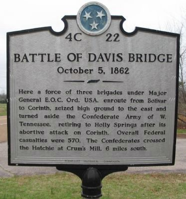 Battle of Davis Bridge Marker Photo, Click for full size