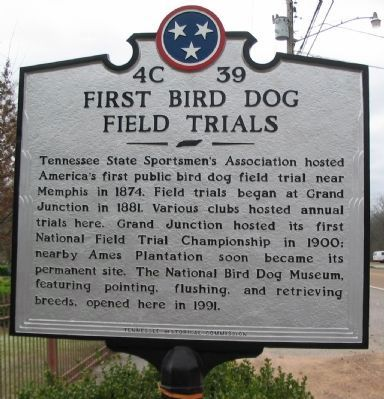 First Bird Dog Field Trials Marker image. Click for full size.
