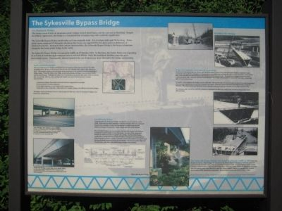 The Sykesville Bypass Bridge Marker image. Click for full size.