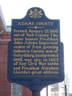 Adams County Marker image. Click for full size.