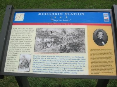 Meherrin Station CWT Marker Photo, Click for full size
