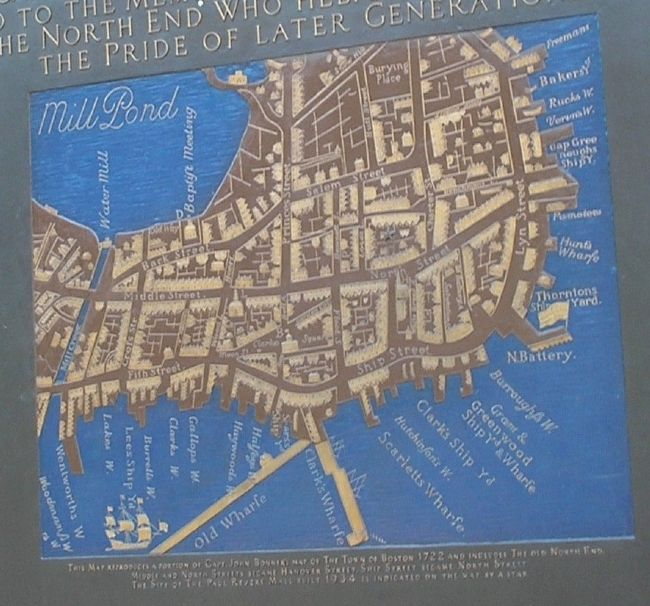 North End Map from Marker image. Click for full size.