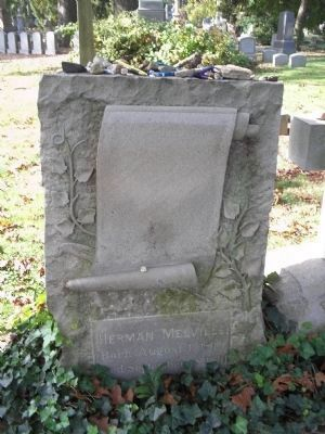 Grave of Herman Melville image. Click for full size.