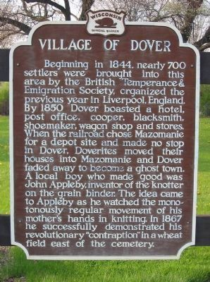 Village of Dover Marker image, Click for more information