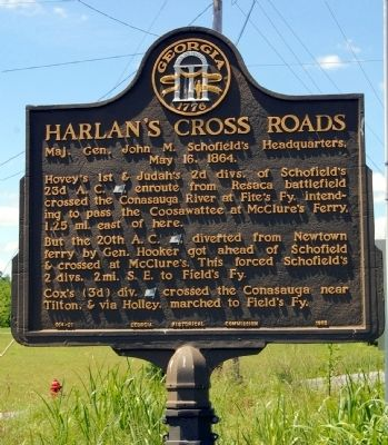 Harlan's Cross Roads Marker image. Click for full size.