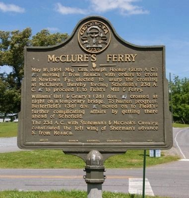 McClure's Ferry Marker image. Click for full size.
