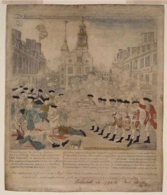 Engraving of the Boston Massacre by Paul Revere Photo, Click for full size