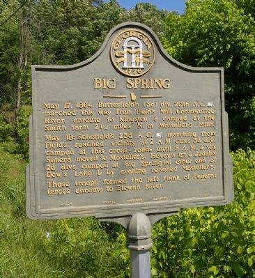 Big Spring Marker Photo, Click for full size