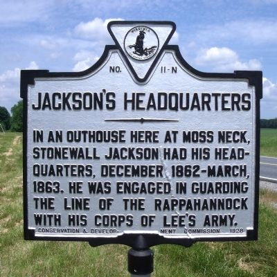 Jackson's Headquarters Marker image. Click for full size.