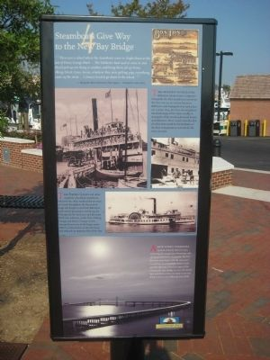 Steamboats Give Way to the New Bay Bridge Marker Photo, Click for full size